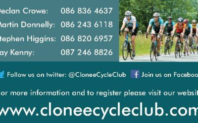 Sincere Thanks to Martin Donnelly and the Clonee Cycling Club