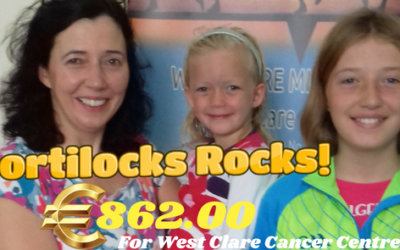 GOLDILOCKS WENT SHORTILOCKS AND RAISED €862.00 FOR THE WEST CLARE CANCER CENTRE!!!!!