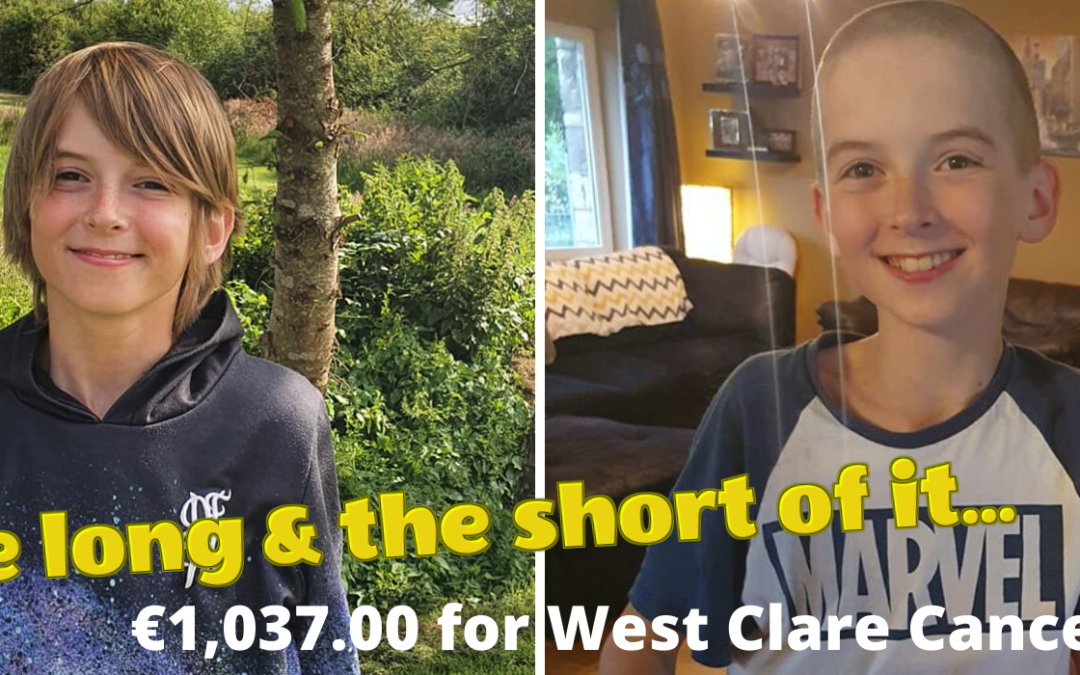 CONOR TROY RAISES €1,037.00 FOR THE WEST CLARE CANCER CENTRE!!!!!!