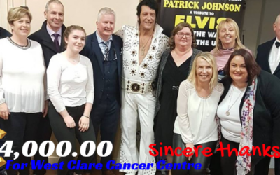ELVIS The Homecoming Concert raises €4,000.00 for West Clare Cancer Centre!!!!!!!!