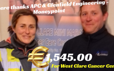 ATLANTIC PROJECTS COMPANY (APC) & GLENFIELD ENGINEERING, MONEYPOINT DONATE €1,545.00 TO WEST CLARE CANCER CENTRE!!!!!