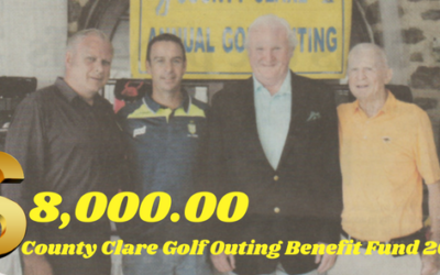 COUNTY CLARE GOLF OUTING BENEFIT FUND 2018 RAISES EIGHT THOUSAND DOLLARS FOR WEST CLARE CANCER CENTRE!!!!!