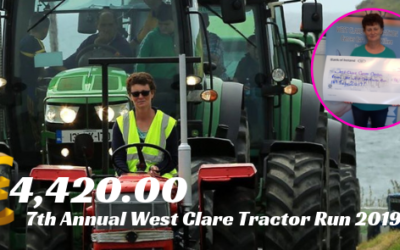 7th ANNUAL WEST CLARE TRACTOR RUN RAISES €4,420.00 FOR WEST CLARE CANCER CENTRE!!!!!!!!