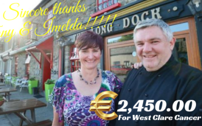 Long Dock Restaurant Carrigaholt donate €2,450.00 to West Clare Cancer Centre!!!!!