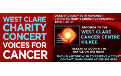 2nd ANNUAL WEST CLARE CHARITY CONCERT – VOICES FOR CANCER 30th NOVEMBER 2017!!!!!!!